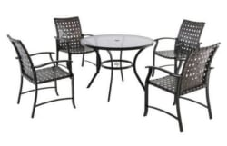 Mainstays Willow Valley 4pc Steel Dining Set $164