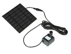Solar Power Fountain Pool Water Pump Kit for $9