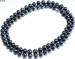 11mm AAA- Black Freshwater Pearl Necklace for $78