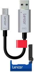 Lexar 64GB USB Flash Drive w/ Kickstand for $24