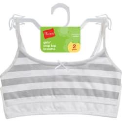 2 Hanes Girls' Cotton Pullover Bra 2-Packs for $10