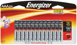 Energizer Max AAA Batteries 24-Pack for $6