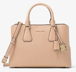 Michael Kors Camille Leather Satchel for $161