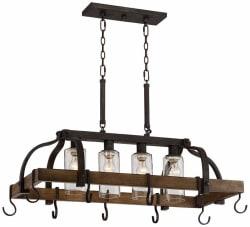 Franklin Iron Works Pot Rack Chandelier for $250