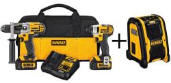 DeWalt 20V Max 2-Tool Combo Kit w/ Speaker $249