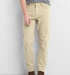 Gap Men's Twill Athletic Fit Pants for $16