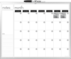 The Board Dudes Magnetic Dry-Erase Calendar for $5
