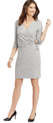 Maurices Women's Tortoise Ring Wrap Sheath Dress for $10 + free shipping w/ $50