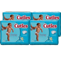 144 Cuties Size 3 Baby Diapers for $10