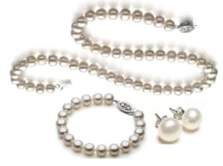 Genuine 8.5-9mm Freshwater Cultured Pearl Set $50