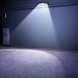 2 Mulcolor 30-LED Solar Motion Sensor Lights $16