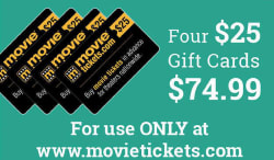 $100 in MovieTickets.com Gift Cards from $75