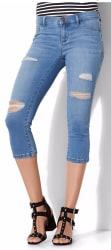 NY&C Women's Destroyed Crop Leg Soho Jeans $17