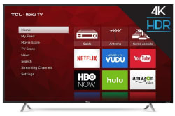 TCL 4K HDR LED LCD UHD Roku Smart TVs from $255
