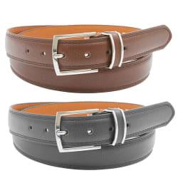 Men's Genuine Leather Dress Belt 2-Pack for $8