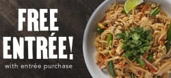 P.F. Chang's Entree: Buy 1, get 2nd free