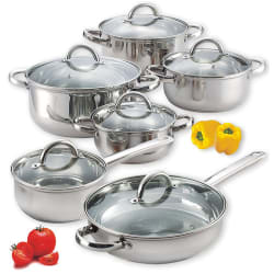Diamond Home 12-Piece Cookware Set for $40