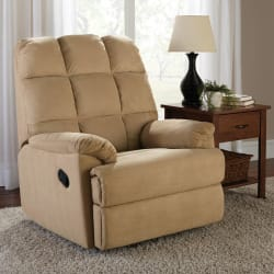 Mainstays Microsuede Rocker Recliner for $139