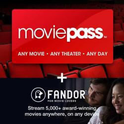 MoviePass + Fandor 1-yr Sub. eVoucher for $90
