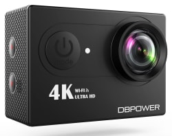 DBPower 12MP 4K WiFi Action Camera for $57