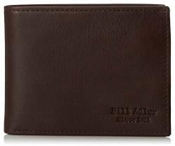 Bill Adler Men's Leather Passcase Wallet for $6