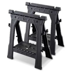 Blue Hawk Adjustable Saw Horse 2-Pack for $20