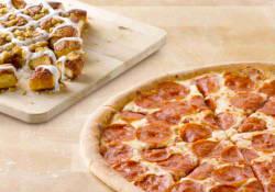 Papa John's Large 3-Topping Pizza w/ Dessert $16