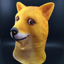 Latex Halloween Dog Mask for $8