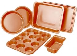 6-Piece Non-Stick Copper Bakeware Set for $23