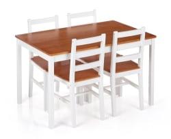iKayaa Pine 5-Piece Kitchen Dining Set for $127