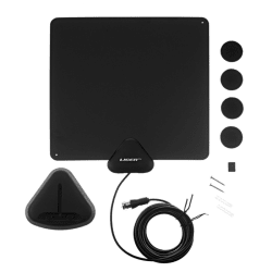 Liger Ultra-Thin 35-Mile Indoor HDTV Antenna $10
