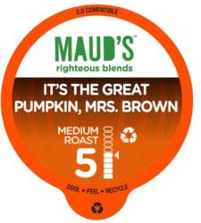 72 Maud's Pumpkin Spice Coffee K-Cup Pods for $22