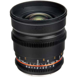 Bower 16mm T.2.2 Cine Lens for Nikon F Mount $199