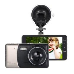 """KKmoon 4"""" Dual Lens Dash Camera w/ DVR for $27"""