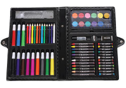 Darice ArtyFacts 68-Piece Portable Art Kit for $3