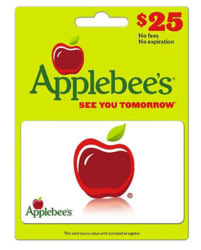 $25 Applebee's Gift Card for $19