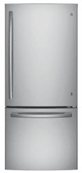 GE 21-Cu. Ft. Bottom Freezer Refrigerator $982