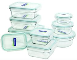 Glasslock 18-Piece Glass Storage Set for $26