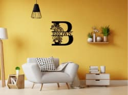Crawoo Last Name Wooden Sign: 25% off + free shipping w/ $65