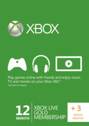 Xbox Live Gold 15-Month Membership for $56