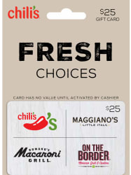 $25 Brinker 4-Choice Gift Card for $19