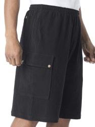 King Size Men's Gauze Cotton Cargo Shorts for $18