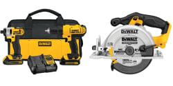 DeWalt 20V Cordless Combo Kit w/ Circular Saw $199