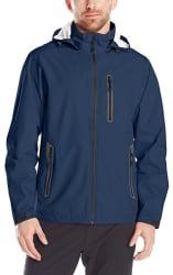 Hawke & Co. Men's Tech Rain Jacket w/ Hood for $16