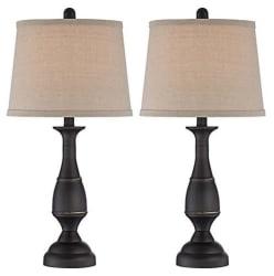 Regency Hill Ben Metal Table Lamp Set for $56