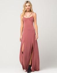 Full Tilt Women's Strappy Slit Maxi Dress $13