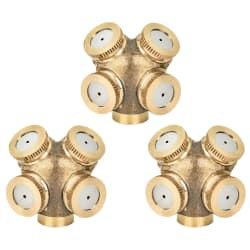 "Kuwan 1/4"" Brass Misting Spray Nozzle 3-Pack $8"