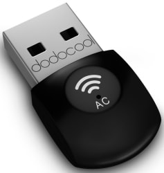 Dodocool Dual Band 802.11ac WiFi USB Adapter $7