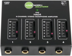 Livewire 4-Ch. Stereo Headphone Amplifier for $15