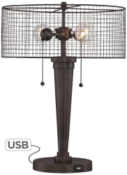 Nolan Industrial Accent Lamp w/ USB Port for $100